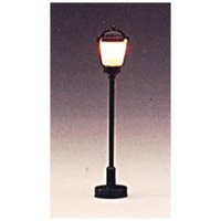 """595 Boulevard Lamp Post Round Frosted 2"""" (3) HO"""