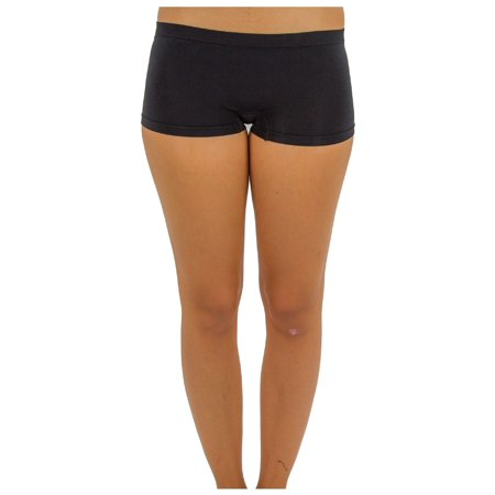 TD Collections Women's Low Rise Boy Cut Seamless Workout Dance Shorts