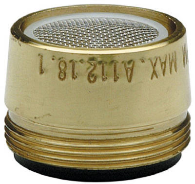 "Faucet Aerator, Male, Polished Brass, 15/16"" X 27-thread, Brass Craft, SF0205X"