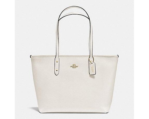 df2c3a5b8c3c ... sale coach crossgrain city zip top tote chalk 6ce71 cbbd1