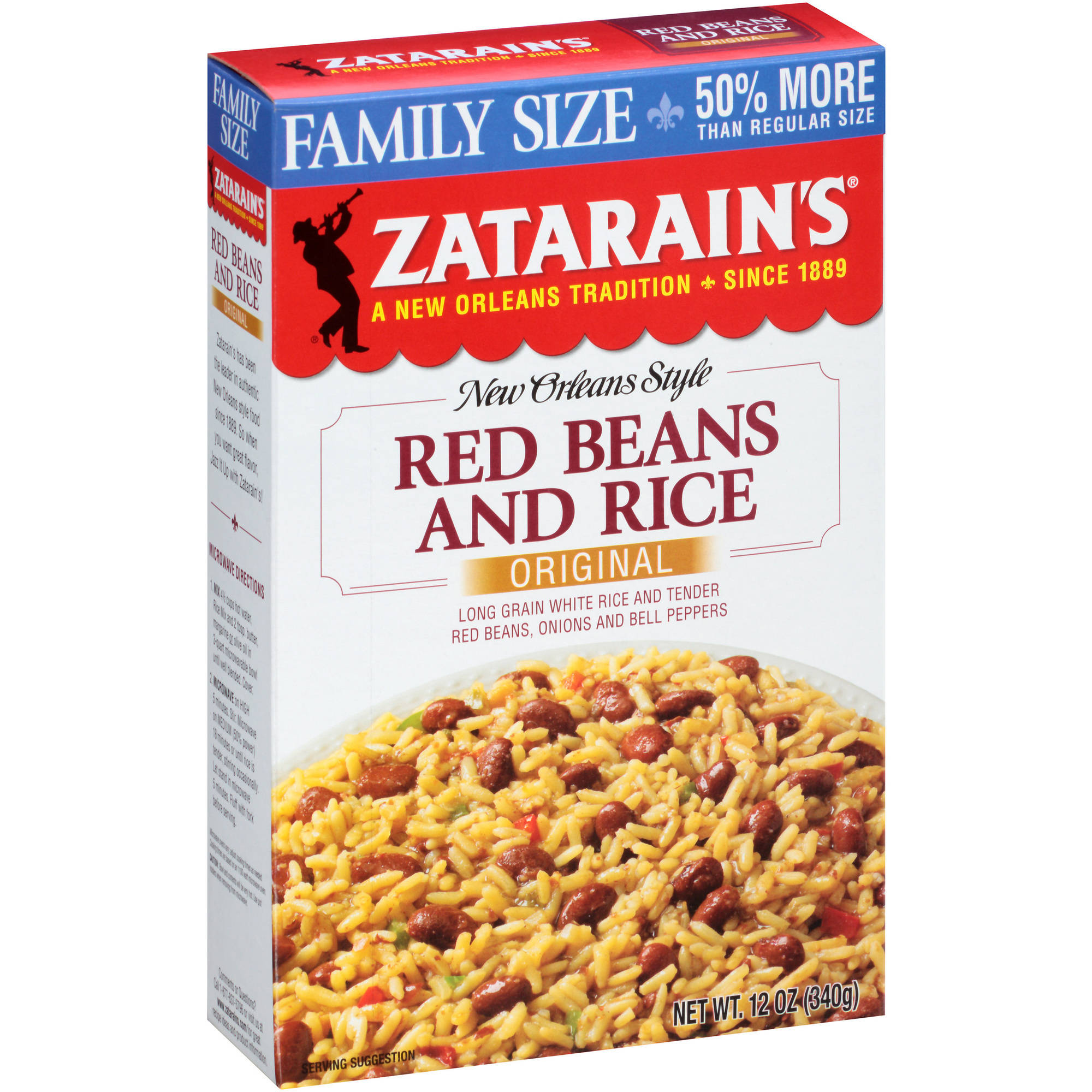 Zatarain's New Orleans Style Original Red Beans and Rice Mix, 12 oz