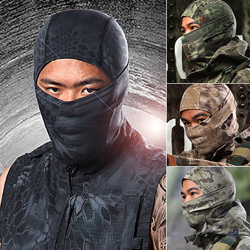 HiCoup Tight Camouflage Balaclava Hunting Outdoor Ski Protection Full Face Neck Mask