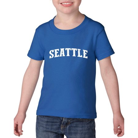 Seattle Washington State Flag Heavy Cotton Toddler Kids T-Shirt Tee - Seattle Toddler Halloween Events