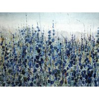 Blue Hollyhock Blue Flower Art Print Wall Art By O'Toole O'Toole