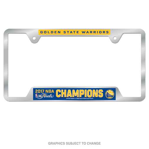 Golden State Warriors Official NBA 2017 Champions License Plate Frame Metal by Wincraft 429544