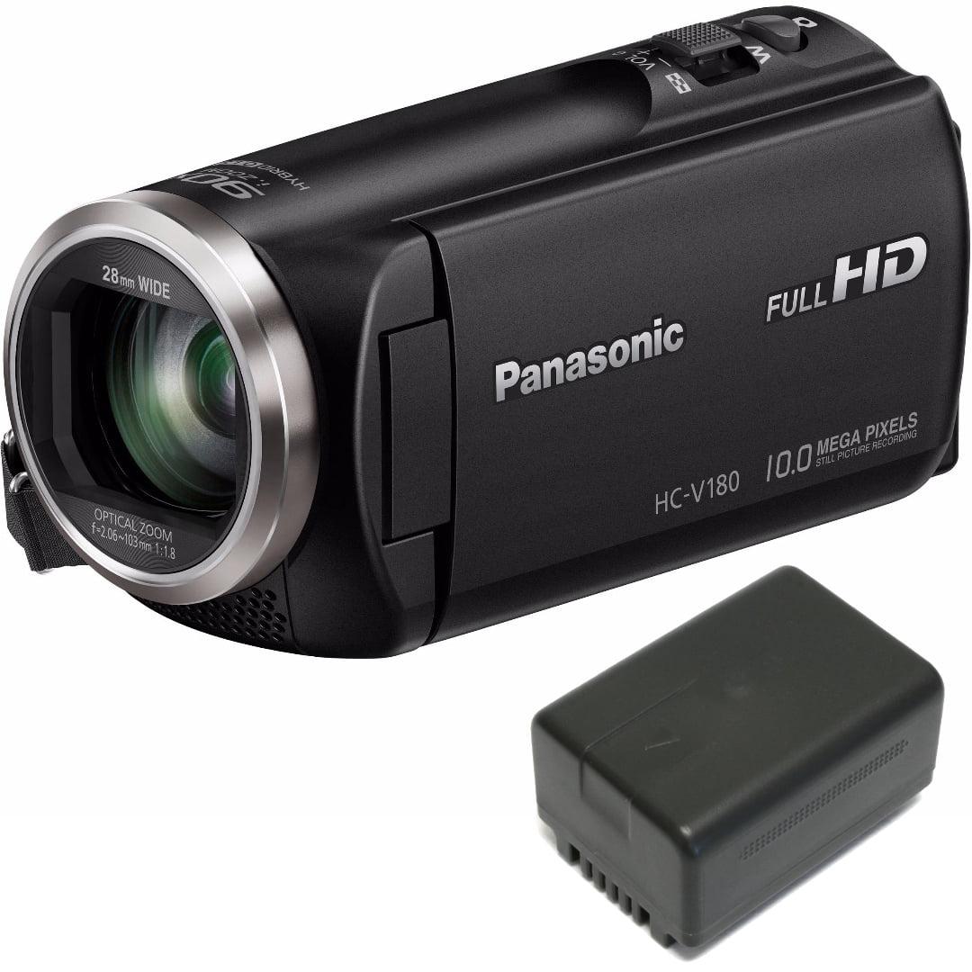 Panasonic HC-V180K HD Camcorder 50x Optical Zoom w/ Wasab...