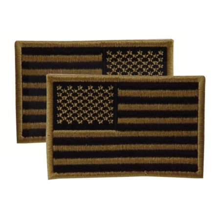 20-9087007001 Embroidered USA Military Flag Patch, Right, Coyote, 2x3, Designed for use on U.S. military uniforms, but also look great on caps, vests, bags and.., By VooDoo Tactical ()