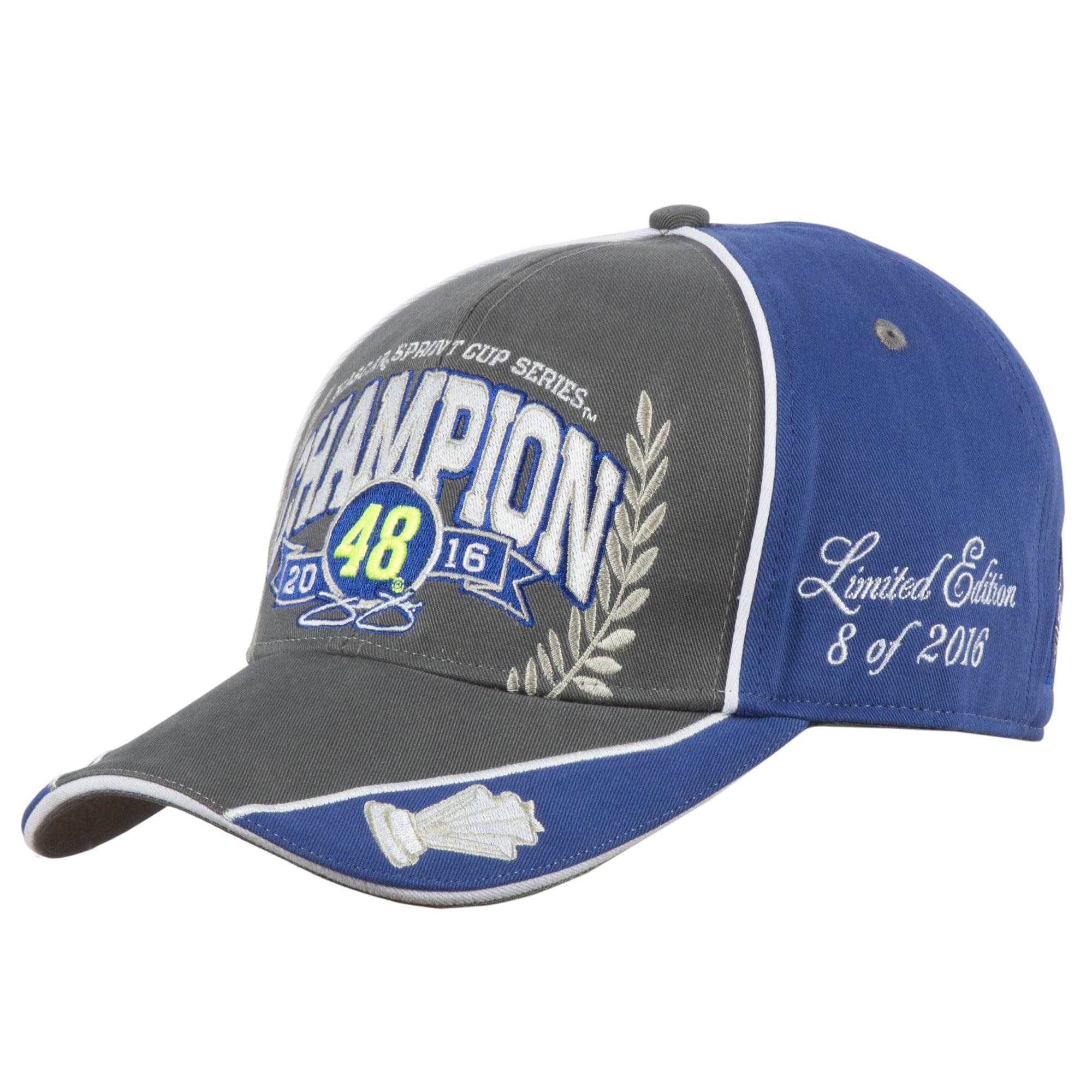 Jimmie Johnson 2016 Sprint Cup Champion Adjustable Hat - Charcoal - OSFA