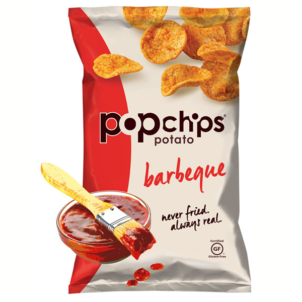 Popchips Barbeque Potato Chips 3.5 oz Bags - Pack of 12