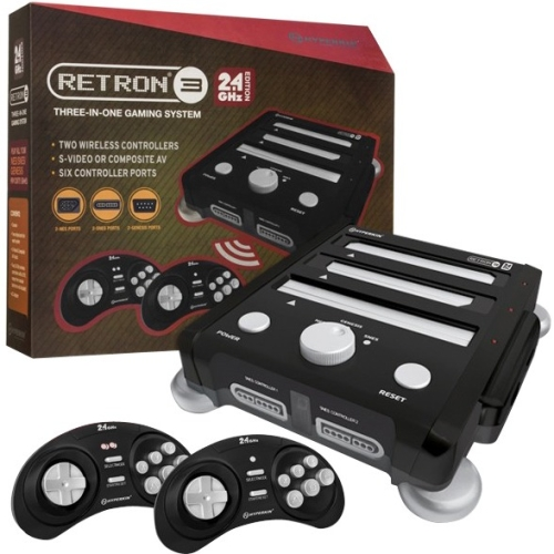RetroN 3 Hyperkin 3-in-1 Classic Gaming Console, Black