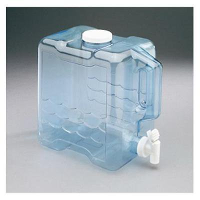 1 Gallon Box (2 Gallon Refillable Transparent Blue Plastic Beverage Container Only One )