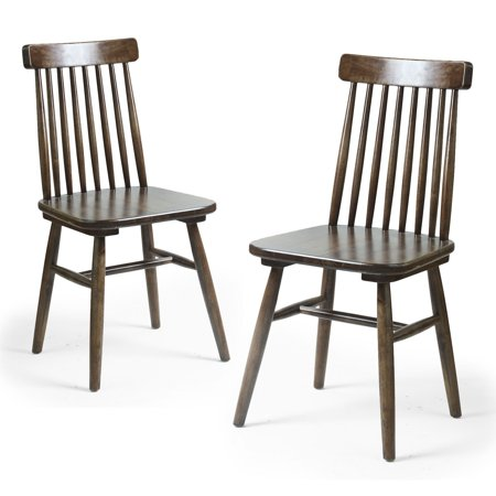 Joveco Classic Mission Back Solid Elm Wood Dining Chair - Set of 2