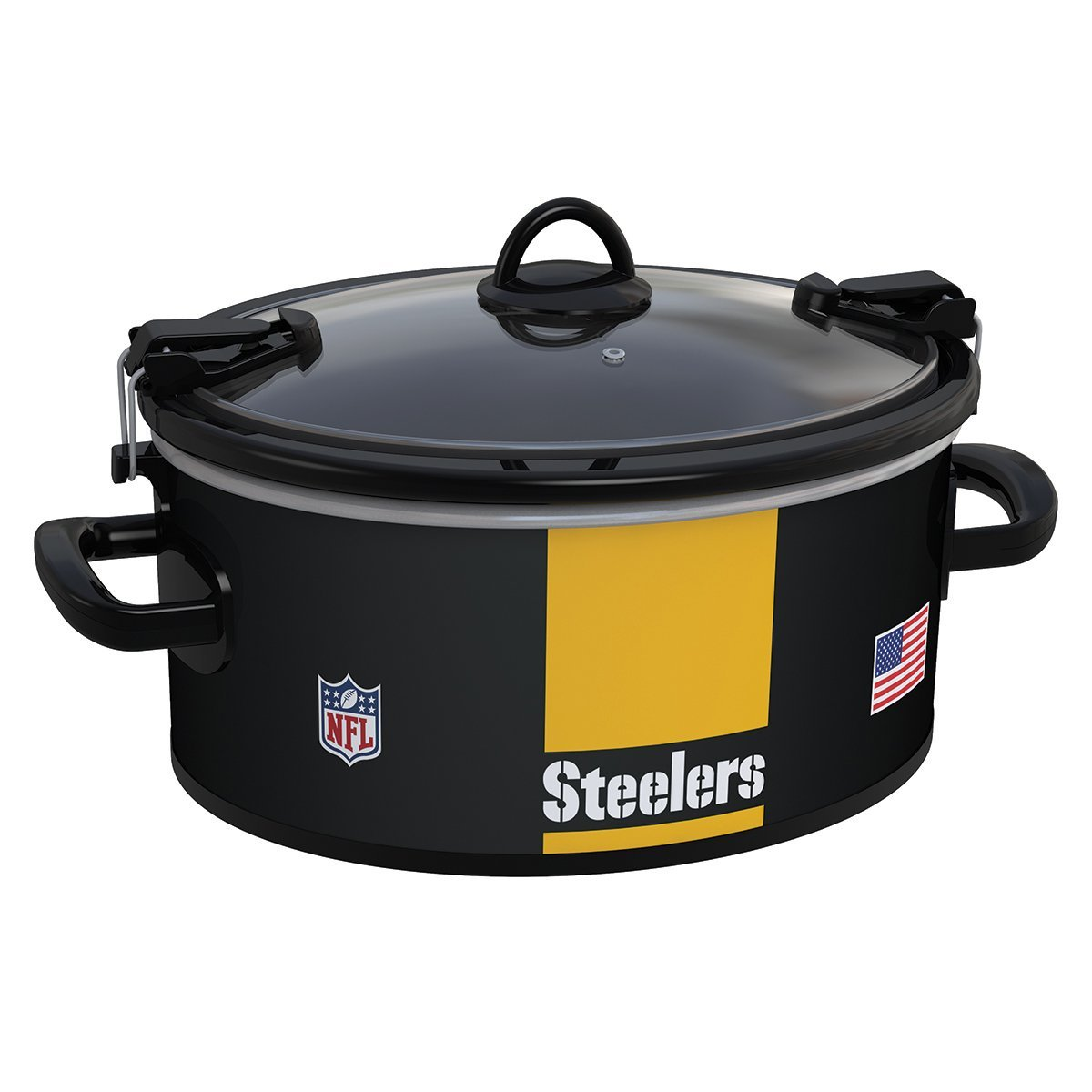 Crock Pot 6 Quart Cook U0026 Carry Slow Cooker, Pittsburgh Steelers  (SCCPNFL600 PS)   Walmart.com