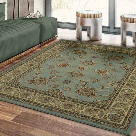 Ottomanson Royal Collection New Traditional Oriental Area Rug, Seafoam