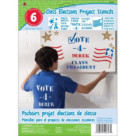 Kids Activity Project 8x10 Stencil 6-Pack: Class Elections, Stenciling is the easiest way to decorate walls, furniture, paper crafts,.., By Plaid from