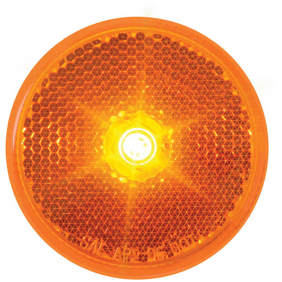 """Grand General 2-1/2"""" Fleet Red Reflector Style LED Marker and Clearance Sealed Light"""