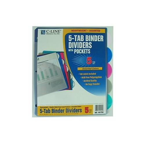 5 TAB POLY INDEX DIVIDERS WITH SCBCLI05750-12 (pack of 12)