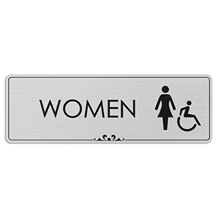 Women Restroom - Laser Engraved Sign - 3