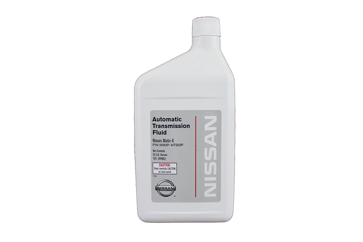Fluid 999MP-MTS00P Nissan Matic-S Automatic Transmission Fluid - 1 Quart,  The exact Original Equipment Manufacturer fluid that your vehicle came