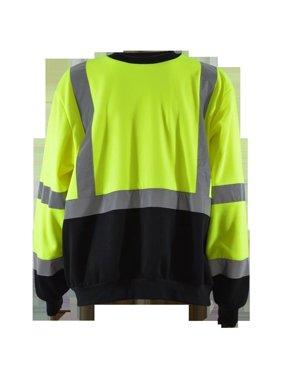 Petra Roc LBCSW-C3-4X Sweatshirt Crew Neck Two Tone Ansi Class 3, Lime & Black - 4X