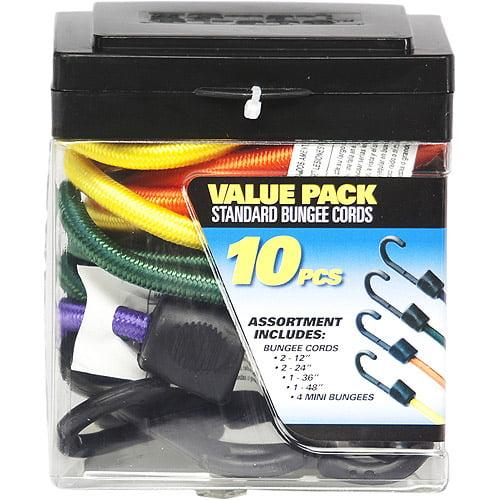 SmartStraps Standard Bungee Value Pack Assortment, 10 Pieces