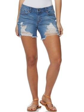 Sofia Jeans by Sofia Vergara Lila Mid Rise Destructed Jean Short, Women's