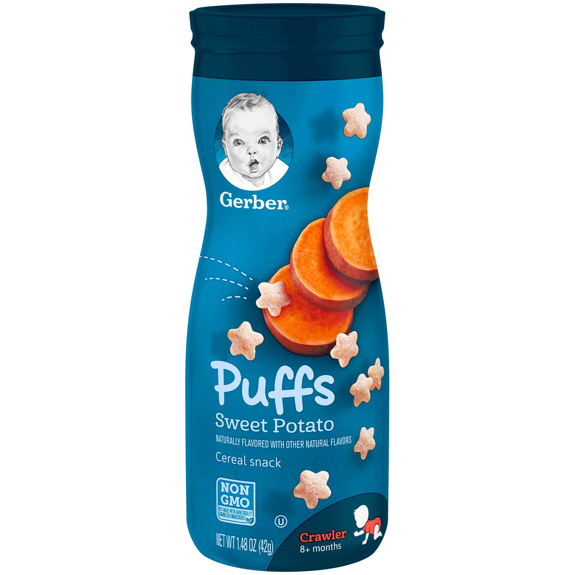 Gerber Puffs Sweet Potato, 1.48 oz. Canister