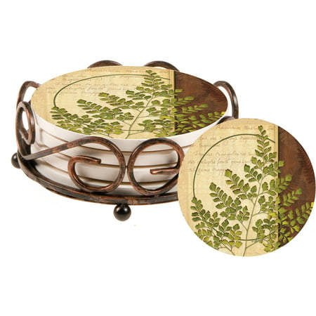 Thirstystone Collegiate Drink Coasters Gift Set, Ferns IV, HA60 by