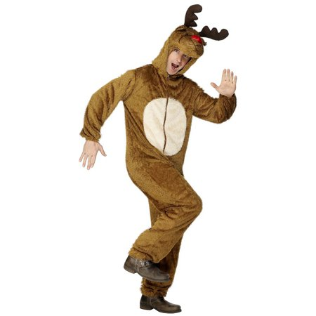 Reindeer Dark Brown Adult Costume - Medium