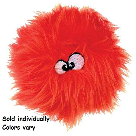 Dog Toys Squeak Plush Fun Round Shaped Chew Guard Furballz Pick Size Colors Vary (4.5