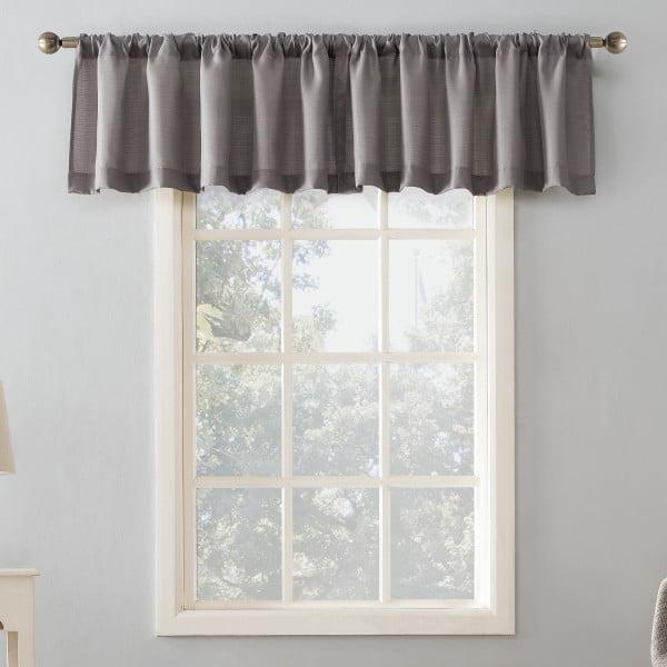 Mainstays Textured Solid Curtain Valance Walmart Com Walmart Com