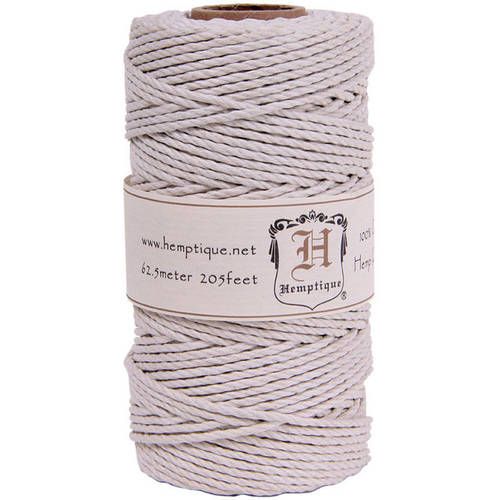 Hemp Cord Spool, 48lb, 205', White