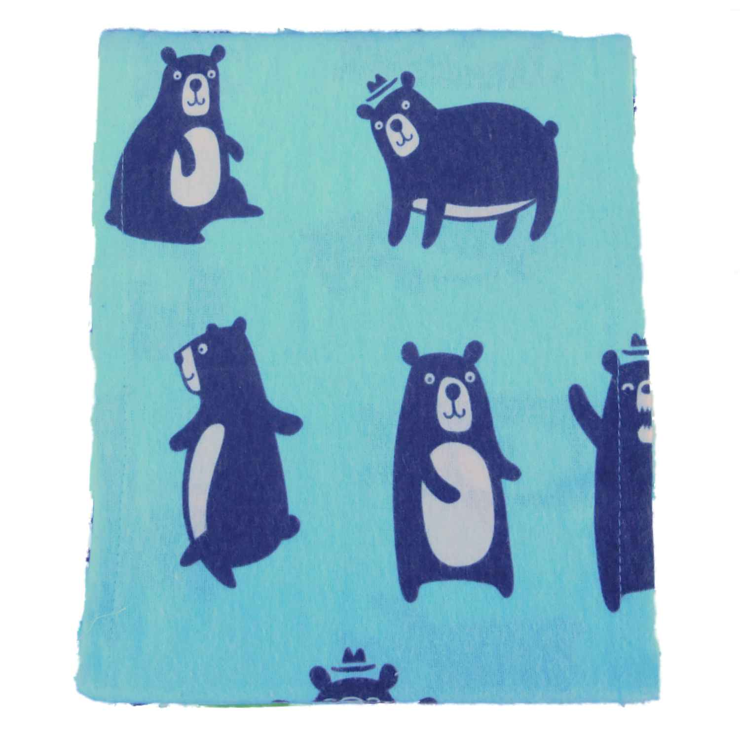 Blue Bears Sheet Set Queen Size Bear Family Flannel Bed Sheets Bedding