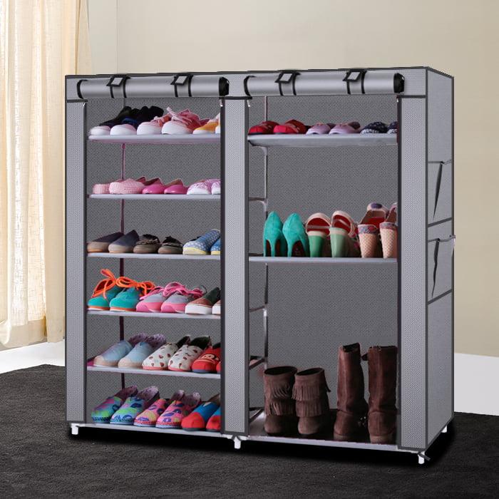 Ktaxon 6 Layer 12 Portable Shoe Storage Organizer Wardrobe Rack With Shelves Closet