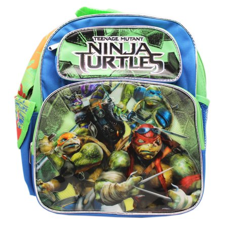 Teenage Mutant Ninja Turtles Live Action Blue/Green Small Kids Backpack (12in)](Teenage Mutant Ninja Turtles Backpack For Kids)
