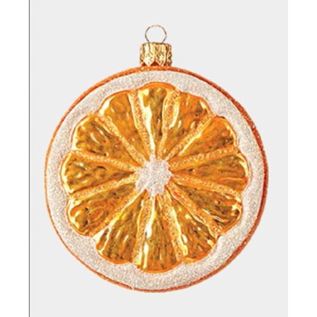 Slice of Orange Fruit Polish Glass Christmas Ornament Food ...