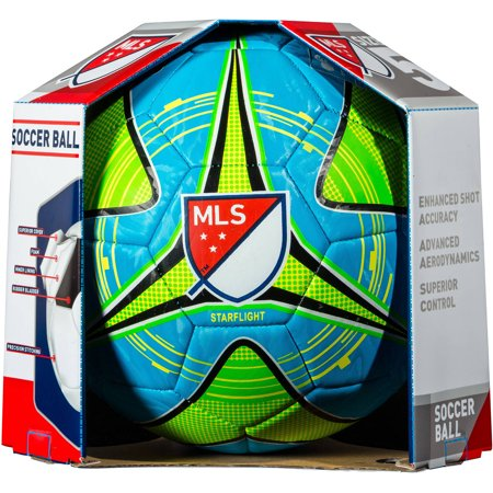 Franklin Sports MLS Soccer Ball, Size 5, Blue, Green and Yellow (Customized Soccer Balls)