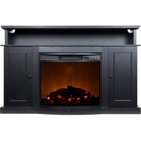 D;cor Flame Biscayne 53″ Media Fireplace, for TVs up to 60″, Black