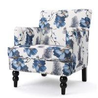 Manet Fabric Club Chair, Floral Print