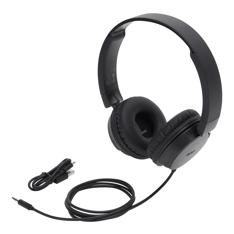 dd1c81c28ee Onn Wireless On-Ear Headphones, Black - Walmart.com
