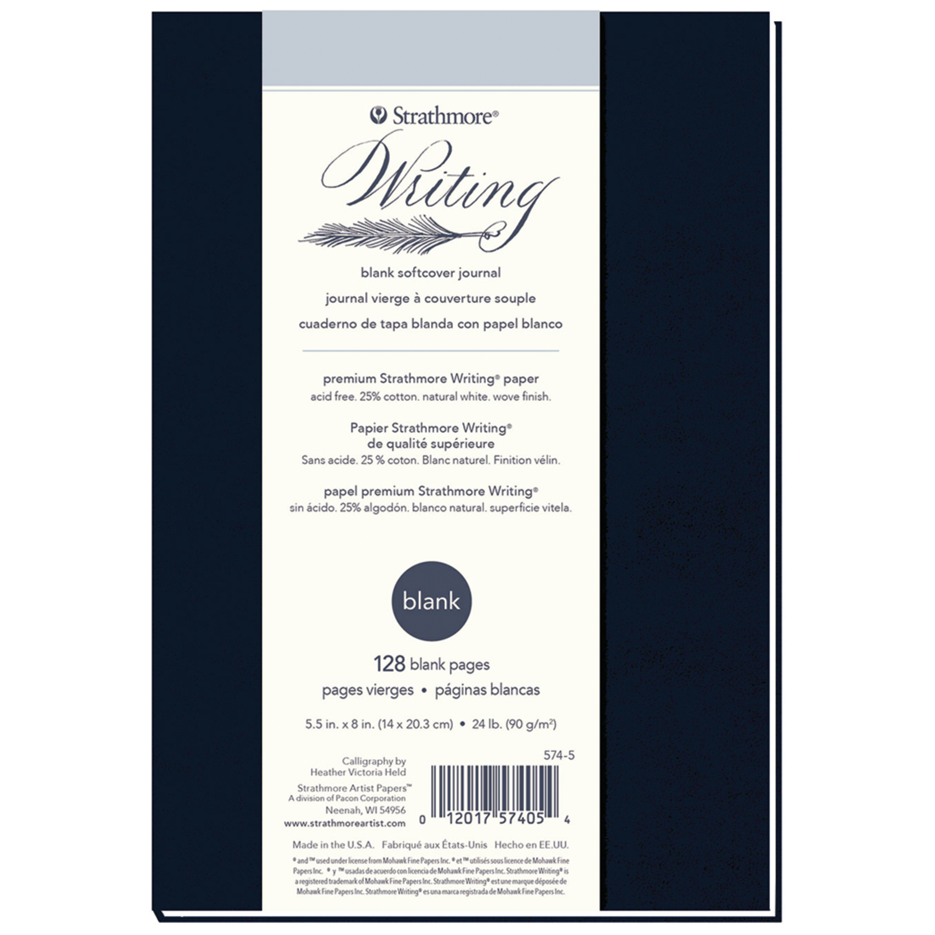 Strathmore Writing Journal, soft cover, 5.5in x 8in, Blank