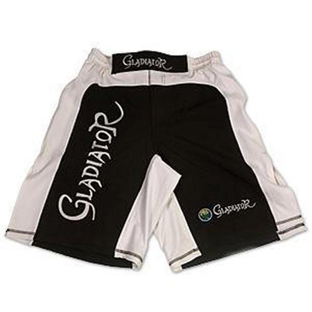 ProForce Gladiator Ultra MMA Board Shorts - Black with White