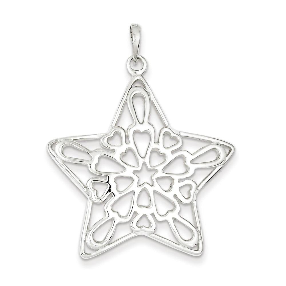 Sterling Silver Polished Star Pendant