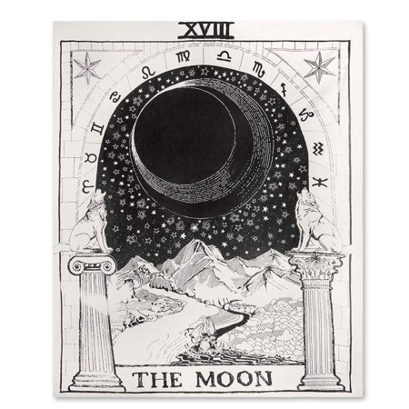 75864a7ea3 eZAKKA Tarot Tapestry The Moon The Star The Sun Tapestry Medieval Europe  Divination Tapestry Wall Hanging Tapestries Mysterious Wall Tapestry for  Home Decor ...