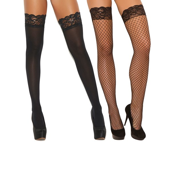 Lace Thigh High with Lace Top, Lace Design Thigh High