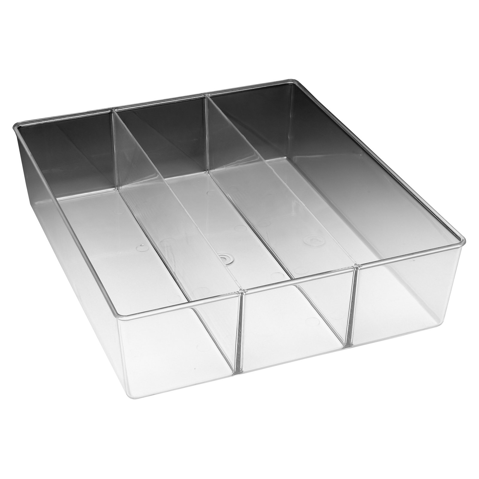 Whitmor 3 Section Small Drawer Organizer Clear