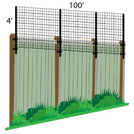 4' x 100' Poly Extension Kit For Existing Wooden Fence