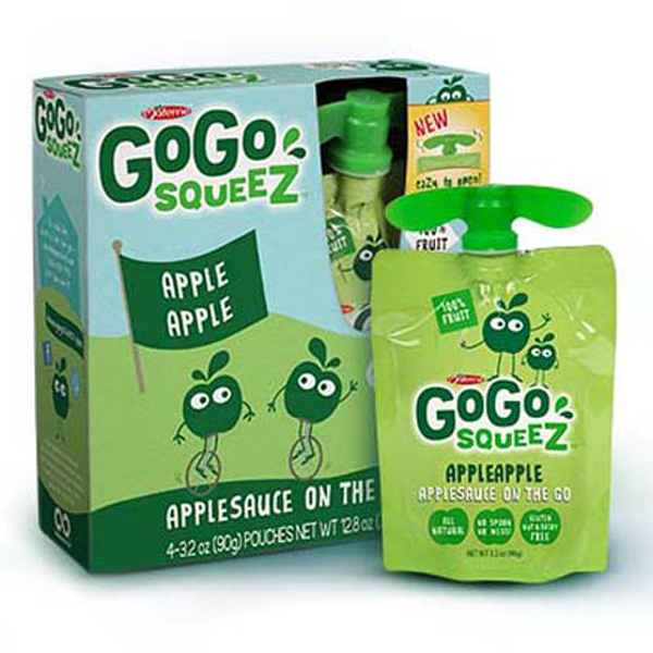 GoGo Squeez Apple Apple Applesauce 3.2 oz Pouches - Box o...