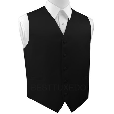 - Italian Design, Men's Formal Tuxedo Vest for Prom, Wedding, Cruise , in Black