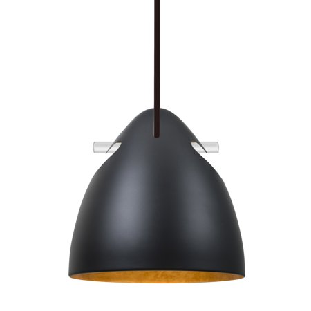 Besa Lighting-1TT-TUNE-BR-Tune - One Light Stem Pendant with Flat ()